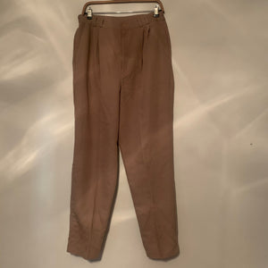 'Linzi' Taupe High-Waisted Trousers (L)