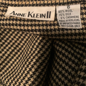 'Alex' Houndstooth Open Blazer (L/XL)