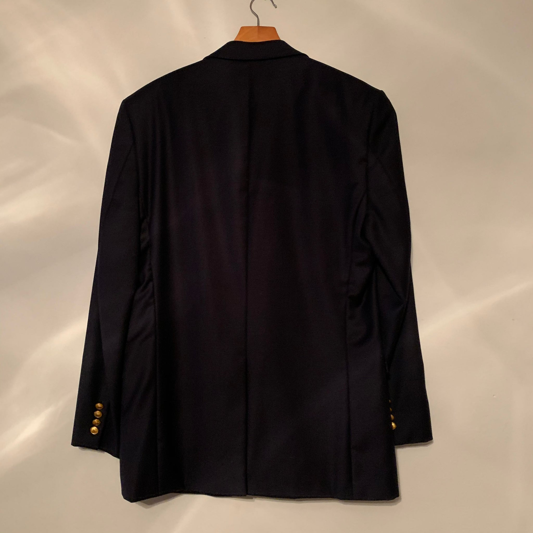 Navy Ralph Lauren Gold Button Wool Blazer (M-XL)