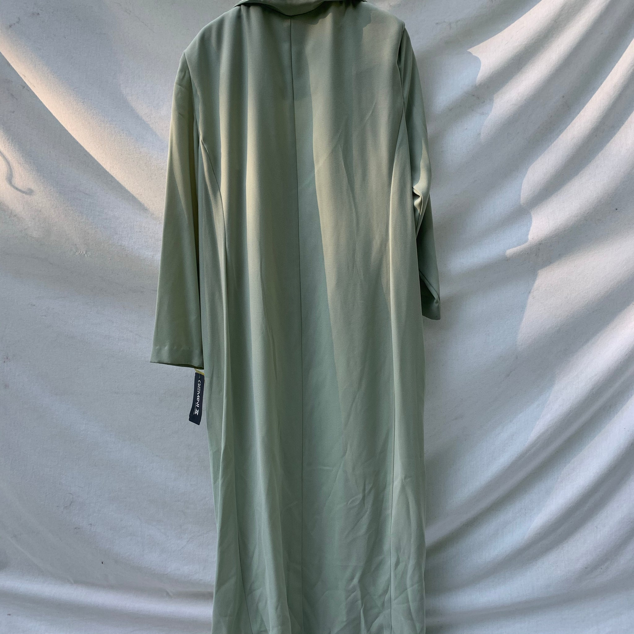 'Maxine' Sea Green Button Maxi Dress Dress/Duster (One Size) - Shop Vanilla Vintage