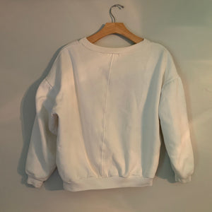 'Whitley' 80s Vintage Fleece White Sweatshirt (S-XL)