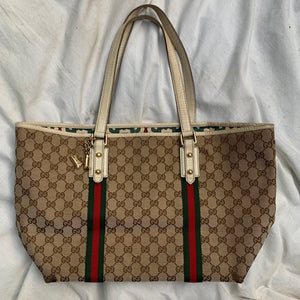 Gucci Beige/Brown GG Canvas Jolicoeur Large Tote Bag - Shop Vanilla Vintage