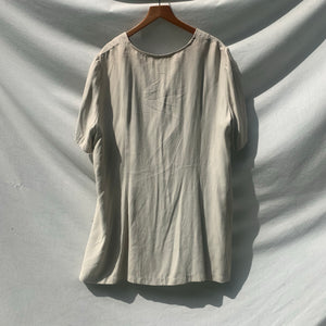 'Halle' Oversized Taupe Blouse (20W/One Size) - Shop Vanilla Vintage