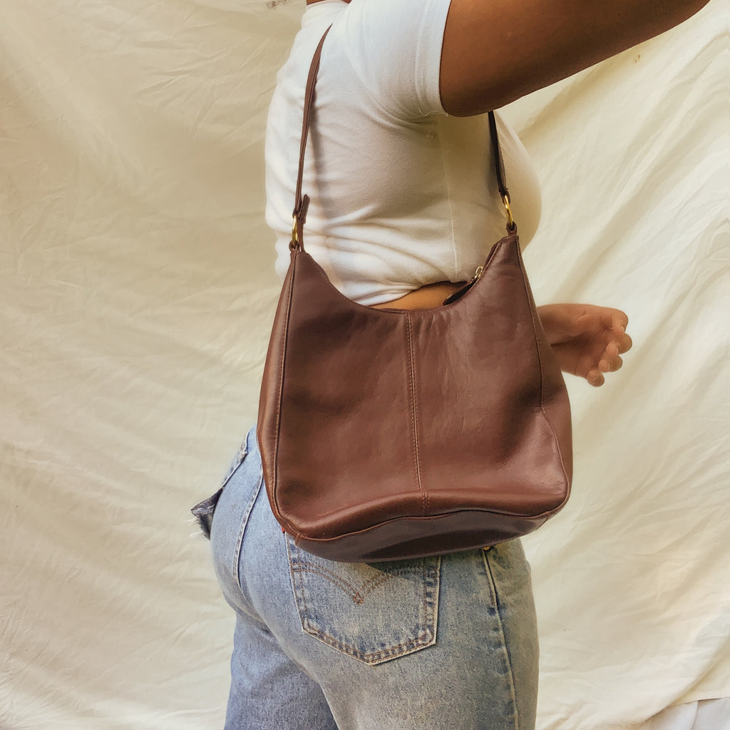 'Ashley' Brown Satchel Bag - Shop Vanilla Vintage