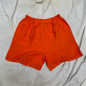 'Velma' Orange High-Wasited Shorts (L/XL) - Shop Vanilla Vintage