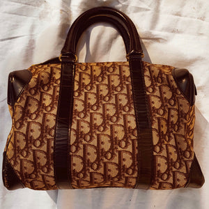 Vintage 1980s Christian Dior Monogram Trotter Boston Bag - Shop Vanilla Vintage