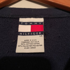 Vintage Tommy Hilfiger Navy Blue Athletic Sweatshirt (S-XL)