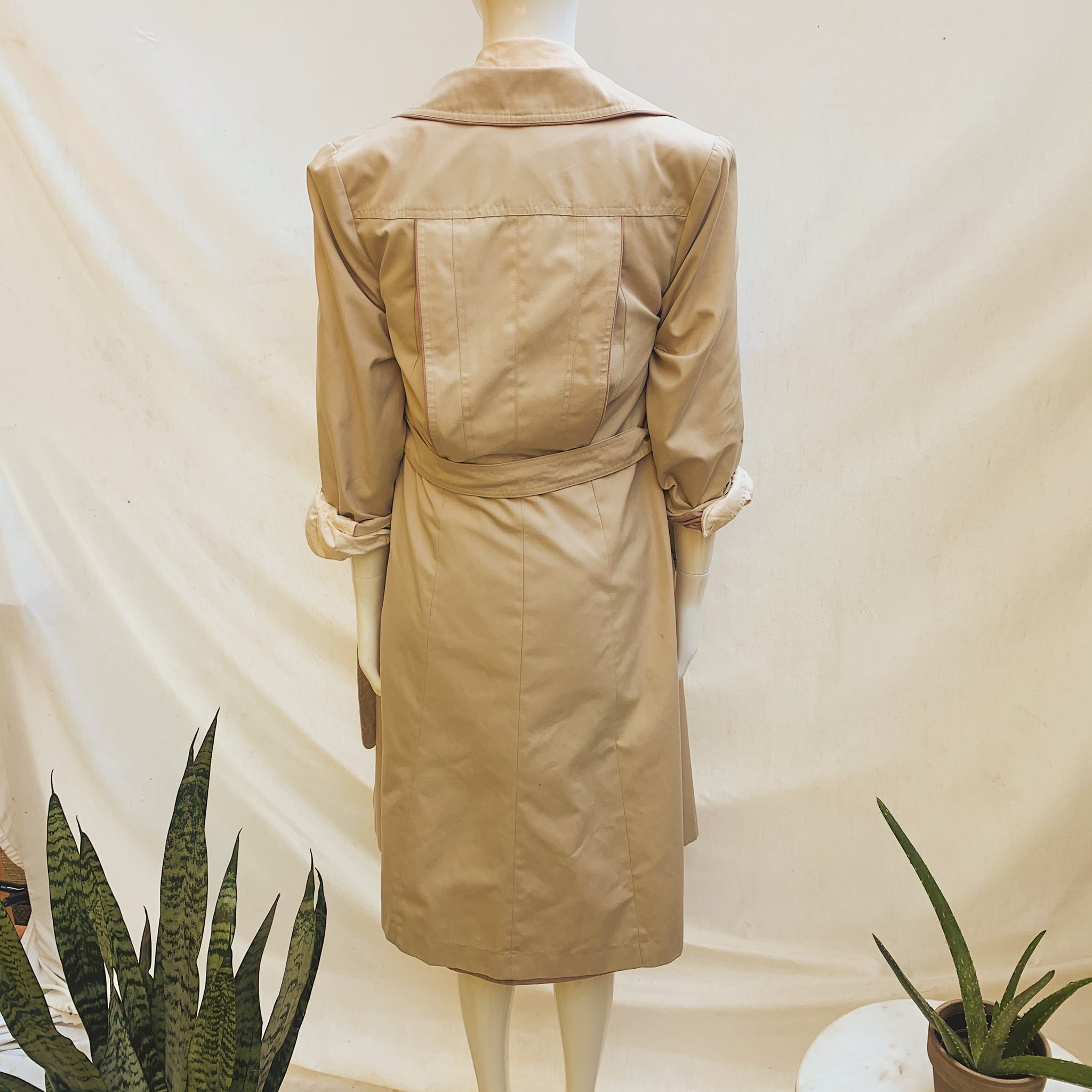 'Roseanna' Fur Lined Beige Belted Trench Coat ( S/M)