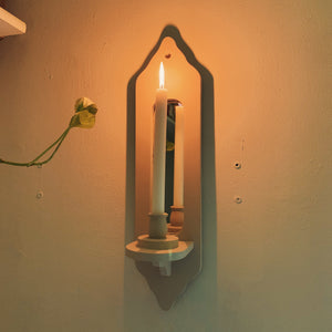 Vintage Mirrored Wall Candle Sconce - Shop Vanilla Vintage
