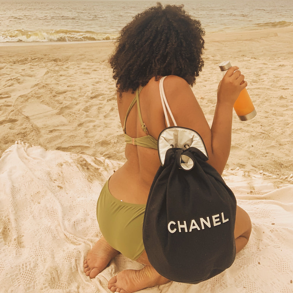 Chanel Black Drawstring Backpack - Shop Vanilla Vintage