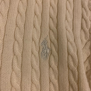 'Zoe' Vintage Ralph Lauren Cable Knit Cardigan in Creme (S-L)