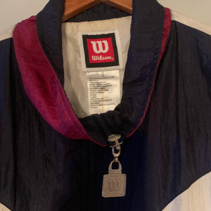 'Wendy' 80s Vintage Wilson Tennis Blue Windbreaker