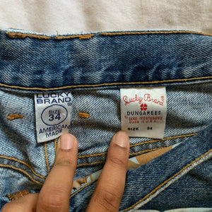 "Vintage High-Waisted Lucky Brand Jeans (34"") - Shop Vanilla Vintage"