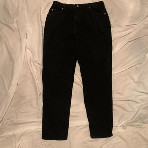 'Della' Black High-Waisted Vintage Mom Jeans (12/14)