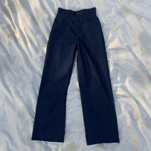 "Vintage Levi's High-Waisted Dark Wash Flare Jeans (25""x29"")"
