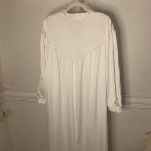 'Josephine' Lace Trim Button Down Maxi Nightgown (one size) - Shop Vanilla Vintage