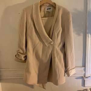 'Kourtney' Camel Quilted  Lapel Blazer (M/L)