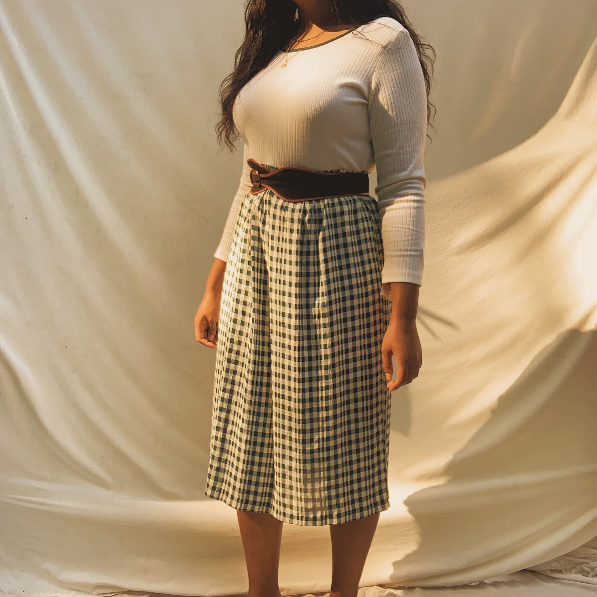 'Anais' Plaid Midi Sweater Dress (L/XL) (NWT)