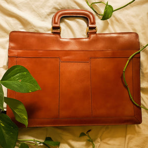 Vintage Brown Leather Briefcase Satchel Bag - Shop Vanilla Vintage