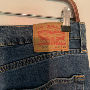 Levi's 505 Mid/High Waist Mid-Wash Jeans (woman's size 10/12)