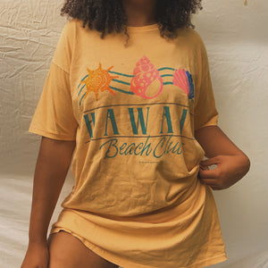 'Alani' Hawaiian Beach Resort Oversized T-Shit Coverup (One Size) - Shop Vanilla Vintage