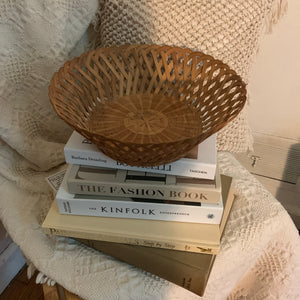 Lattice Woven Circular Basket - Shop Vanilla Vintage