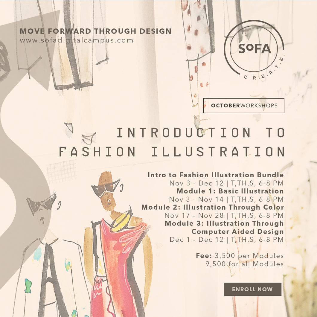 Introduction to Fashion Illustration Workshop (Modules 1, 2 & 3)
