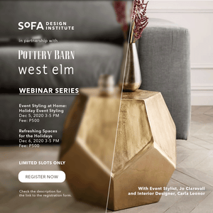 SoFA Design Institute x Pottery Barn: Webinar Series