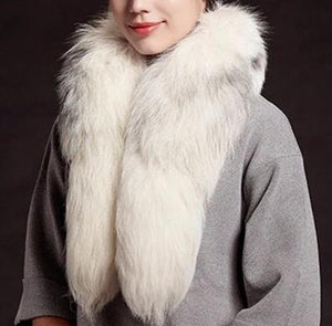 Natural White Fox Fur Stole / Collar