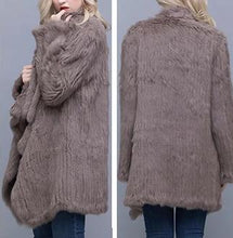 Load image into Gallery viewer, Knitted Rabbit Fur Casual Oversized Cardigan (Varied Colors) - fetefurcoats