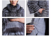 Load image into Gallery viewer, Knitted Silver Fox Fur Overcoat (Varied Colors) - fetefurcoats