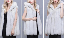Load image into Gallery viewer, Arctic Fox Fur Hooded Vest - fetefurcoats