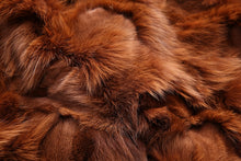 Load image into Gallery viewer, Parka w/ Brown Fox Fur Lining and Raccoon Fur Hood - Black
