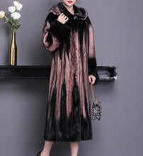 Load image into Gallery viewer, Classic Long Natural Mink Fur Coat with Hood - fetefurcoats