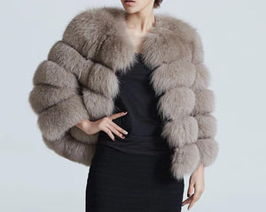 Blue Fox Fur Jacket (Varied Colors)