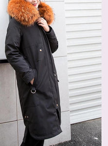 3-in-1 Convertible Parka w/ Raccoon Fur Lining & Hood (Varied Colors) - fetefurcoats