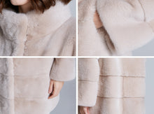 Load image into Gallery viewer, Mink Fur Stroller Coat - Sand