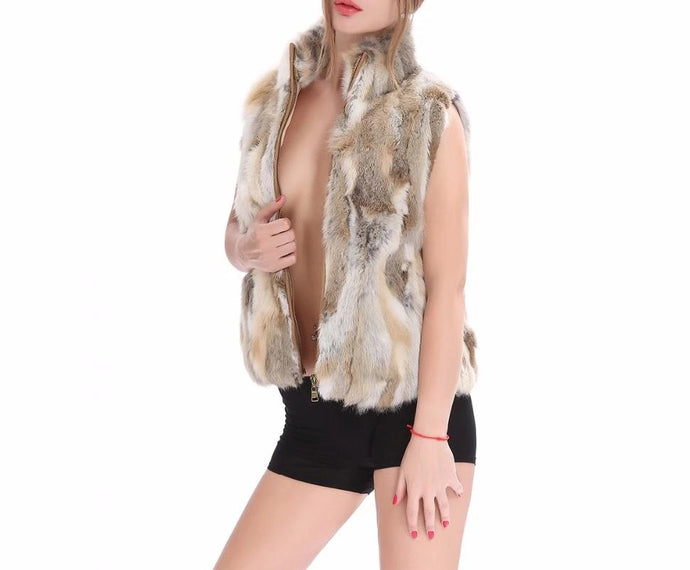 Classic Rabbit Fur Vest (Natural and Varied Colors)