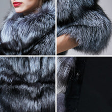 Load image into Gallery viewer, Silver Fox Fur High Street Jacket - Natural - fetefurcoats