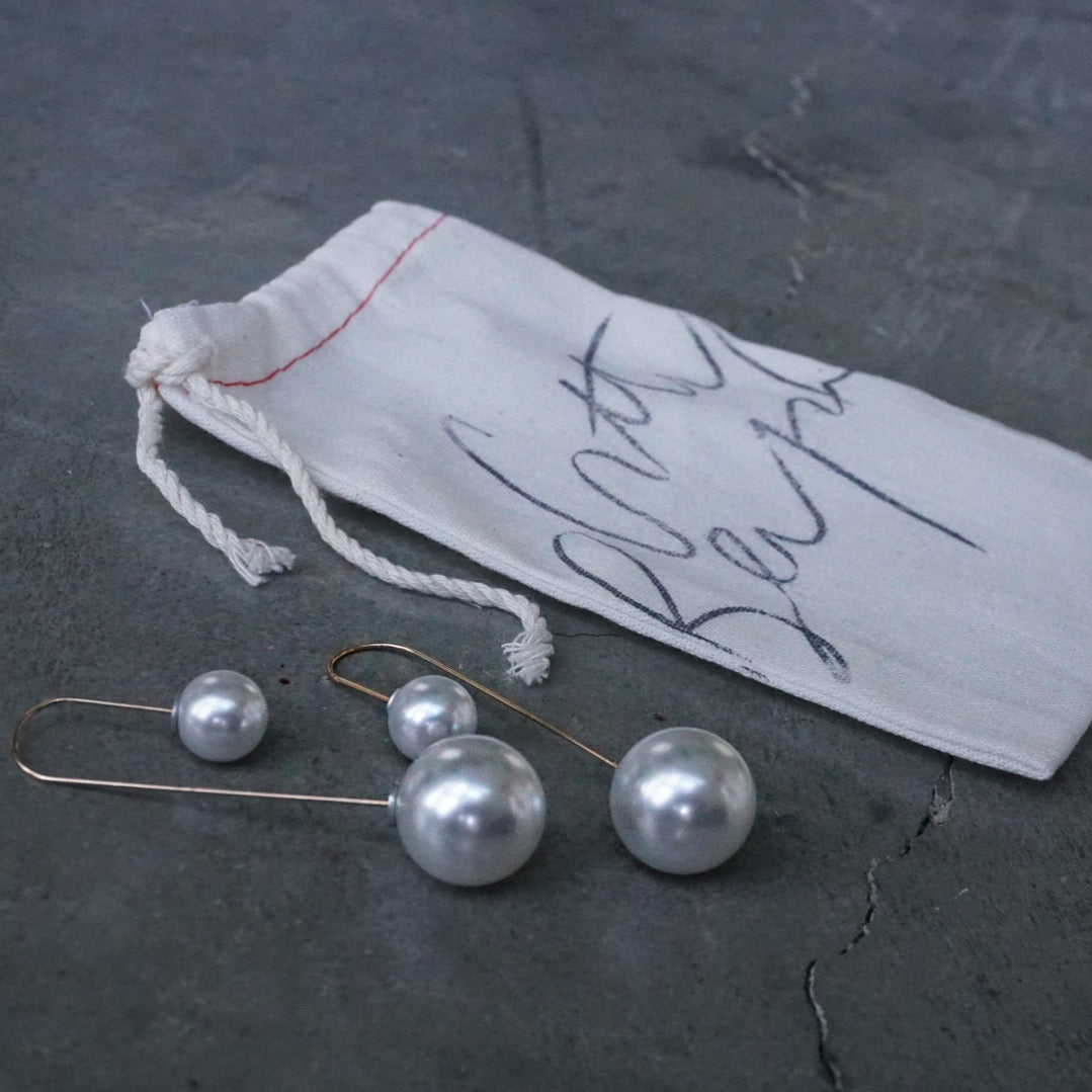 Hollywood Starlet Double Pearl Earrings *PREORDER NOW!*