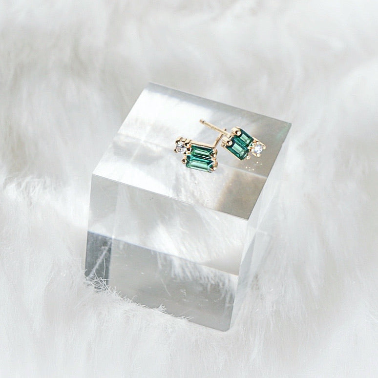 Emerald Twinkle Angel Studs