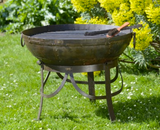 Recycled Kadai Firebowl on Gothic stand
