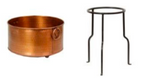 Copper Champagne Cooler and Stand
