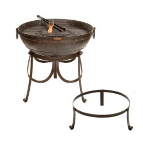 Recycled Kadai Firebowl on Gothic high and low stands