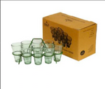 Set of 8 Chai Glasses and metal Rack