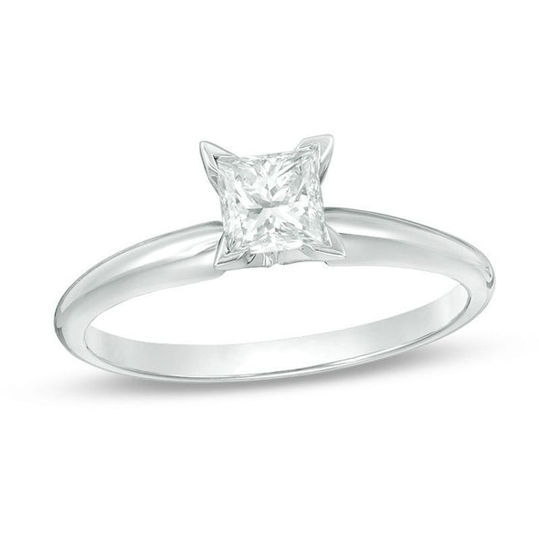 Certified Princess-Cut Diamond Solitaire Engagement Ring (I/VS2)