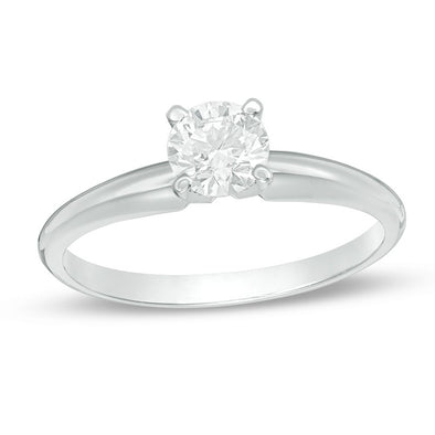 Certified Round-Cut Diamond Solitaire Engagement Ring (I/VS2)