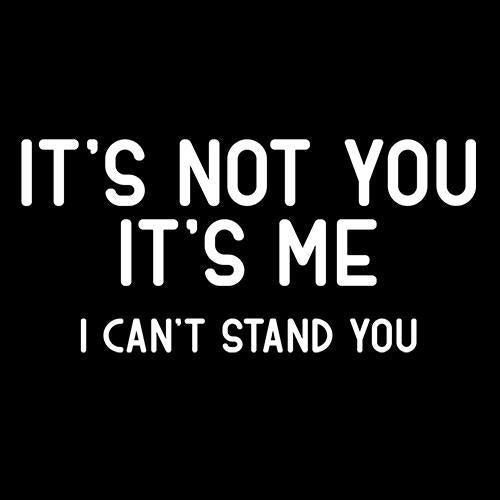 It's Not You It's Me I Can't Stand You