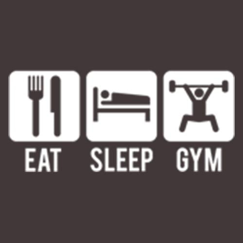 Eat Sleep Gym T Shirt available in different sizes