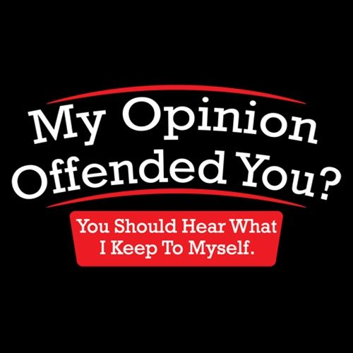 My Opinion Offended You Hear T-Shirt - Funny T-shirts - Roadkill T Shirts
